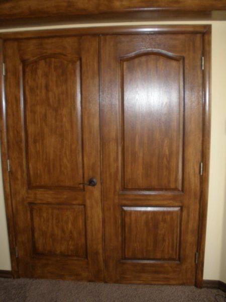 faux wood finish door 1 painters plus az. Black Bedroom Furniture Sets. Home Design Ideas