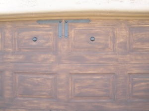 Painted Faux Wood Finish