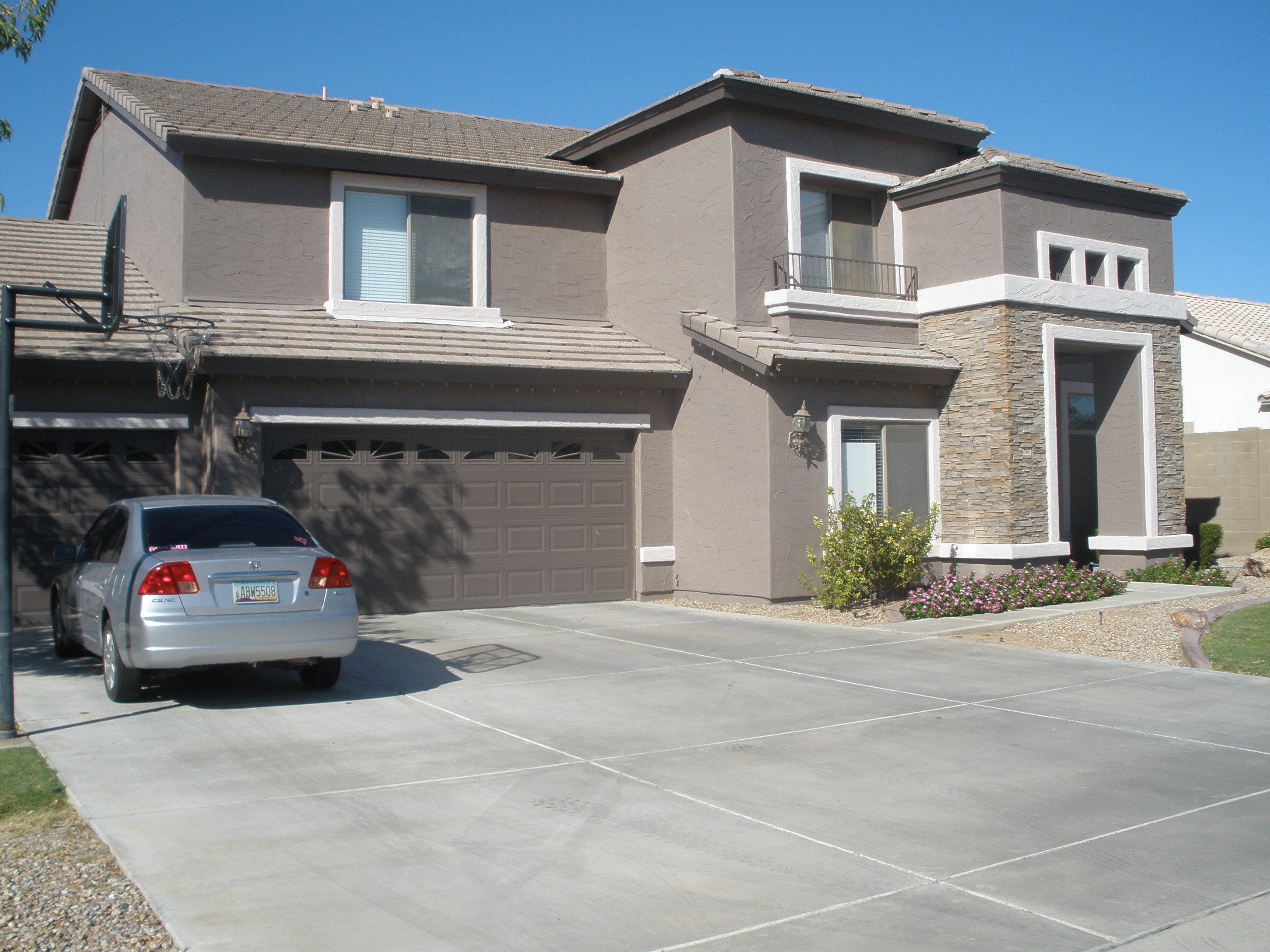 Residential painted exterior two tone painters plus az - Exterior paint jobs model ...